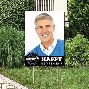 Happy Retirement - Photo Yard Sign - Retirement Party Decorations