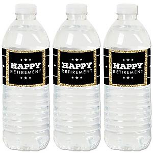 Happy Retirement - Retirement Party Water Bottle Sticker Labels - Set of 20