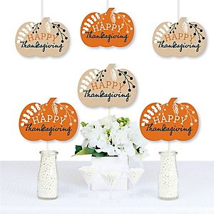 Happy Thanksgiving - Decorations DIY Fall Harvest Party Essentials - Set of 20