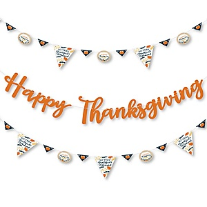 Happy Thanksgiving - Fall Harvest Party Letter Banner Decoration - 36 Banner Cutouts and Happy Thanksgiving Banner Letters
