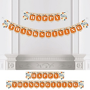 Happy Thanksgiving - Personalized Birthday Party Bunting Banner and Decorations