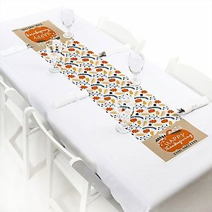 Happy Thanksgiving - Personalized Fall Harvest PartyPetite Table Runner