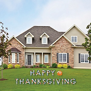 Happy Thanksgiving - Yard Sign Outdoor Lawn Decorations - Fall Harvest Party Yard Signs - Happy Thanksgiving