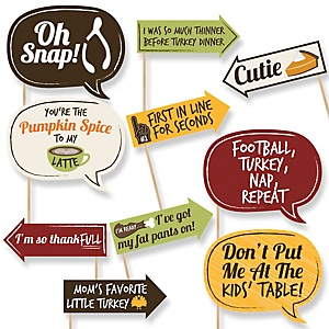 Funny Turkey Day - Thanksgiving 10 Piece Photo Booth Props Kit