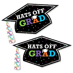 Hats Off Grad - Graduation Hat Decorations DIY Large Graduation Party Essentials - 20 Count