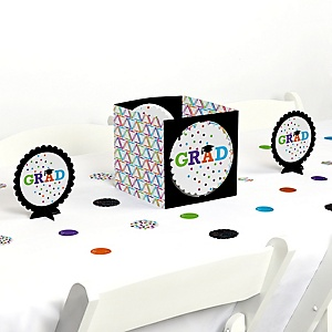 Hats Off Grad - Graduation Party Centerpiece and Table Decoration Kit