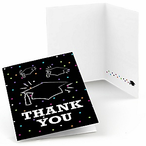 Hats Off Grad - Graduation Party Thank You Cards - 8 ct