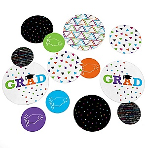 Hats Off Grad – Graduation Party Giant Circle Confetti – Graduation Party Decorations – Large Confetti 27 Count