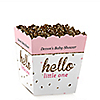 Hello Little One - Pink and Gold - Party Mini Favor Boxes - Personalized Girl Baby Shower Treat Candy Boxes - Set of 12