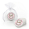Hello Little One - Pink and Gold - Personalized Girl Baby Shower Lip Balm Favors - Set of 12