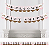 Hello Little One – Pink and Gold - Personalized Girl Baby Shower Bunting Banner & Decorations