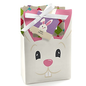 Hippity Hoppity - Easter Bunny Personalized Easter Party Favor Boxes - Set of 12