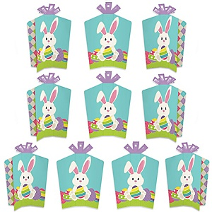 Hippity Hoppity - Table Decorations - Easter Bunny Party Fold and Flare Centerpieces - 10 Count