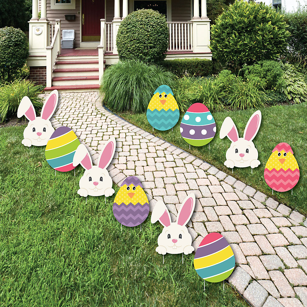 Hippity Hoppity Easter Bunny Egg Yard Decorations Outdoor