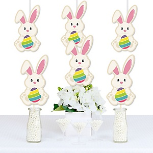 Hippity Hoppity - Easter Bunny Decorations DIY Easter Party Essentials - Set of 20