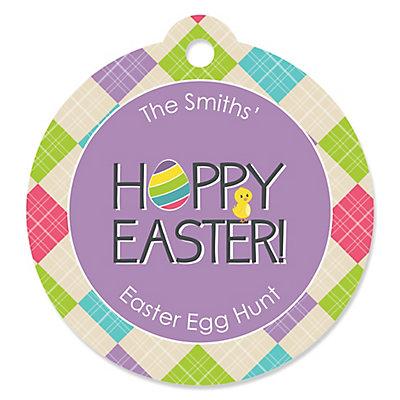 Hippity hoppity easter bunny personalized easter party favor hippity hoppity easter bunny personalized easter party favor gift tags 20 ct bigdotofhappiness negle Choice Image