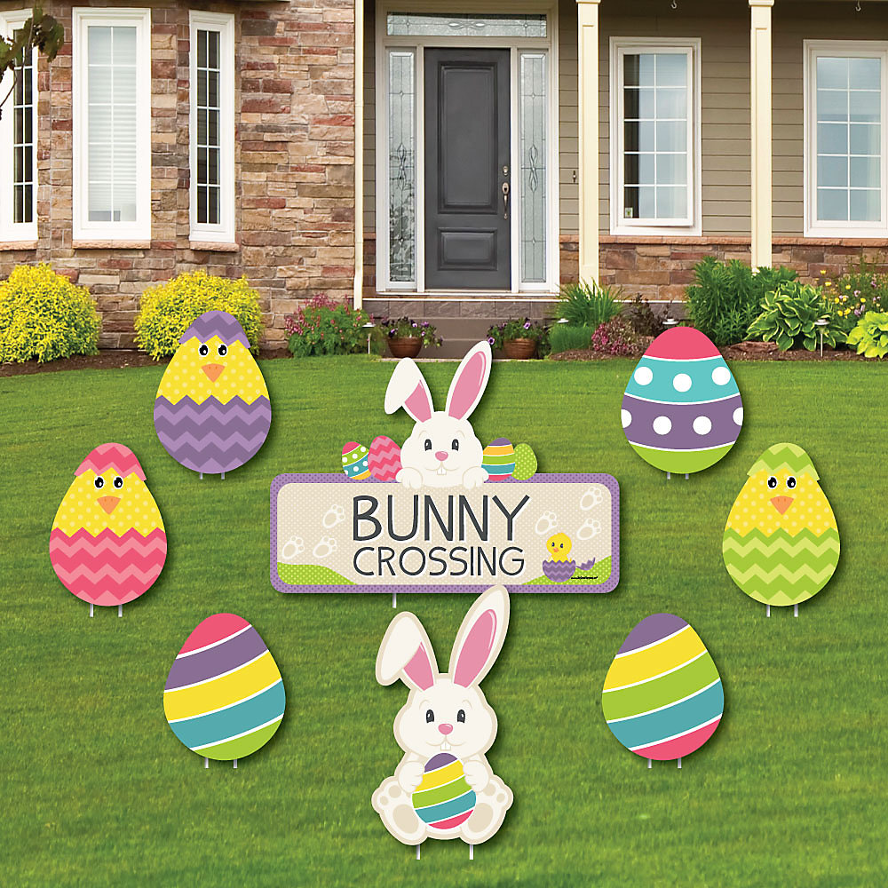Hippity Hoppity Easter Bunny Yard Sign Outdoor Lawn