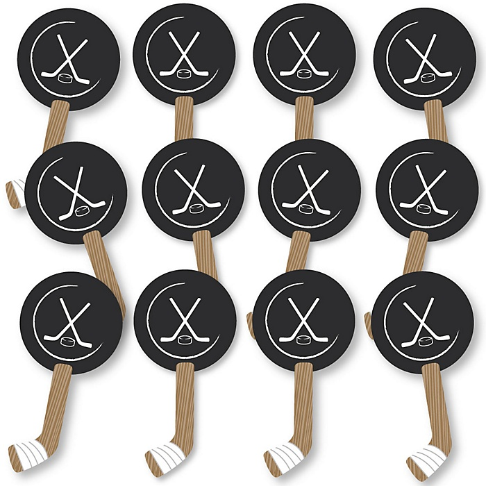 Shoots & Scores! - Hockey Fundraising - Spirit Cheer Gear - Fan Sports Swag Paddles - Set of 12