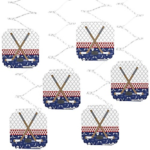 Shoots & Scores! - Hockey - Party Hanging Decorations - 6 ct