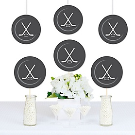 Shoots & Scores! - Hockey - Puck Decorations DIY Baby Shower or Birthday Party Essentials - Set of 20