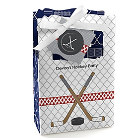 Shoots & Scores! - Hockey - Personalized Party Favor Boxes - Set of 12