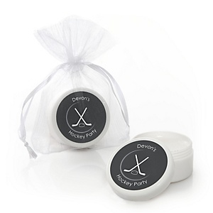 Shoots & Scores! - Hockey - Personalized Party Lip Balm Favors