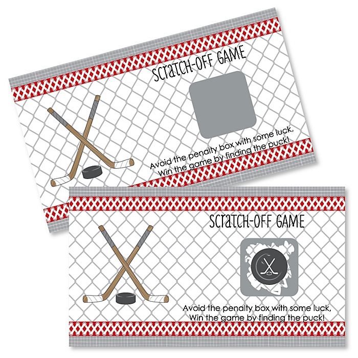 Shoots & Scores! - Hockey - Party Game Scratch Off Cards - 22 ct