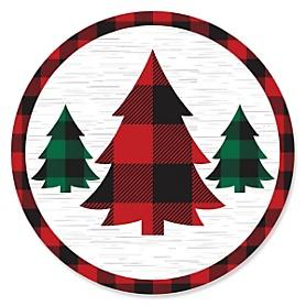 Holiday Plaid Trees - Buffalo Plaid Christmas Party