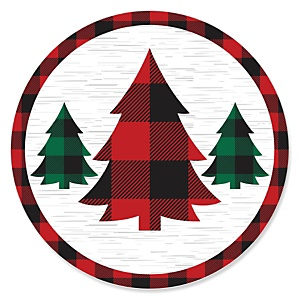 Holiday Plaid Trees - Buffalo Plaid Christmas Party