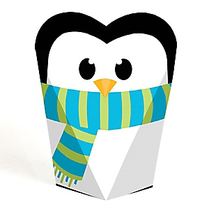Holly Jolly Penguin Holiday & Christmas Party Favors - Gift Favor Boxes for Women  & Kids - Set of 12
