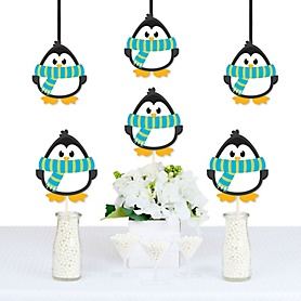Holly Jolly Penguin - Penguin Decorations DIY Holiday & Christmas Party Essentials - Set of 20