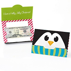 Holly Jolly Penguin - Set of 8 Holiday & Christmas Party Money And Gift Card Holders