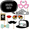 Hollywood - 20 Piece Photo Booth Props Kit