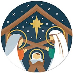 Holy Nativity - Manger Scene Religious Christmas