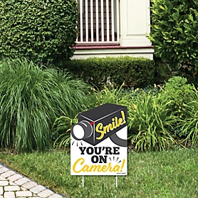 Home Security Camera Sign - Outdoor Lawn Sign - Security System Yard Sign - 1 Piece