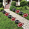 Homecoming - Crown Lawn Decorations - Outdoor Football Themed Yard Decorations - 10 Piece