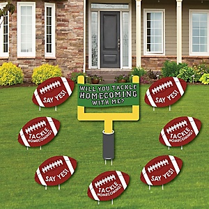 Homecoming Proposal - Yard Sign & Outdoor Lawn Decorations - Homecoming Proposal Yard Signs - Set of 8