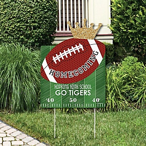 Homecoming - Party Decorations - Football Themed Personalized Welcome Yard Sign