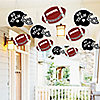 Hanging Homecoming - Outdoor Football Themed Hanging Porch & Tree Yard Decorations - 10 Pieces