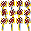 Homecoming - Football Themed Spirit Cheer Gear - Fan Sports Swag Paddles - Set of 12