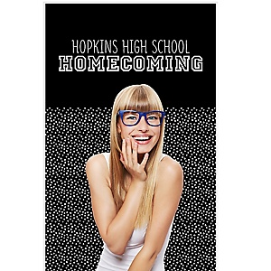 """Homecoming - Football Themed School Dance Personalized Photo Booth Backdrops - 36"""" x 60"""""""