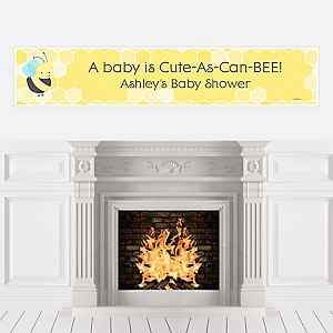 Honey Bee - Personalized Baby Shower Banners