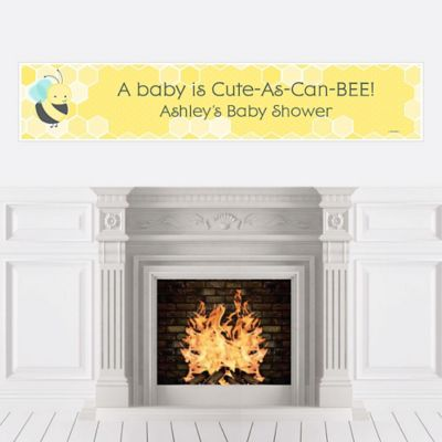 Honey Bee   Personalized Baby Shower Banners