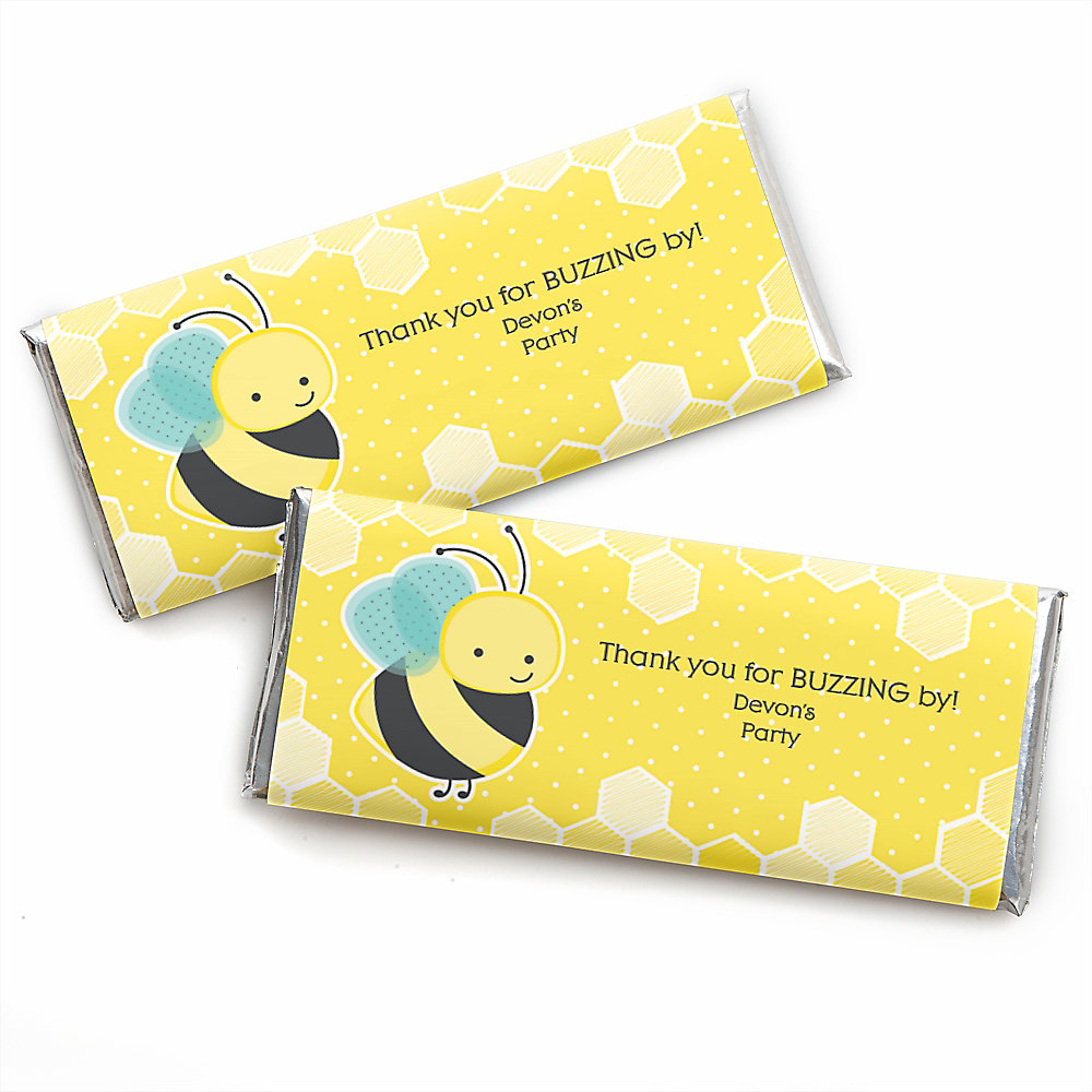 Honey Bee - Personalized Candy Bar Wrappers Baby Shower Favors - Set ...