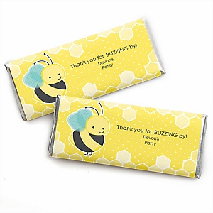 Honey Bee - Personalized Candy Bar Wrapper Baby Shower or Birthday Party Favors - Set of 24
