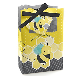 Honey Bee - Personalized Baby Shower Favor Boxes - Set of 12