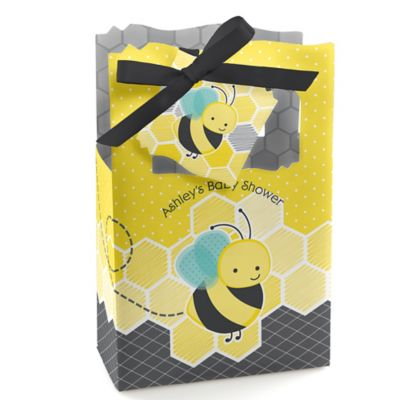 Honey Bee   Personalized Baby Shower Favor Boxes