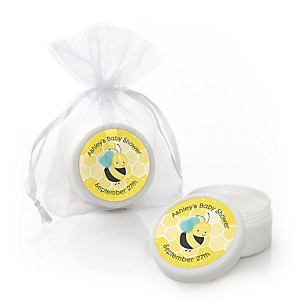 Honey Bee - Personalized Baby Shower Lip Balm Favors - Set of 12