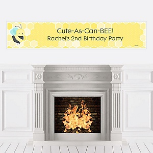 Honey Bee - Personalized Birthday Party Banners