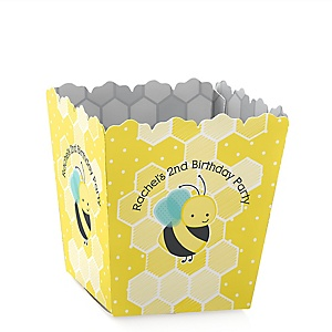 Honey Bee - Party Mini Favor Boxes - Personalized Birthday Party Treat Candy Boxes - Set of 12